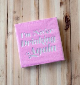slant collection Never Drinking Again Beverage Napkins