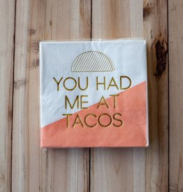 slant collection Had Me At Tacos Beverage Napkins