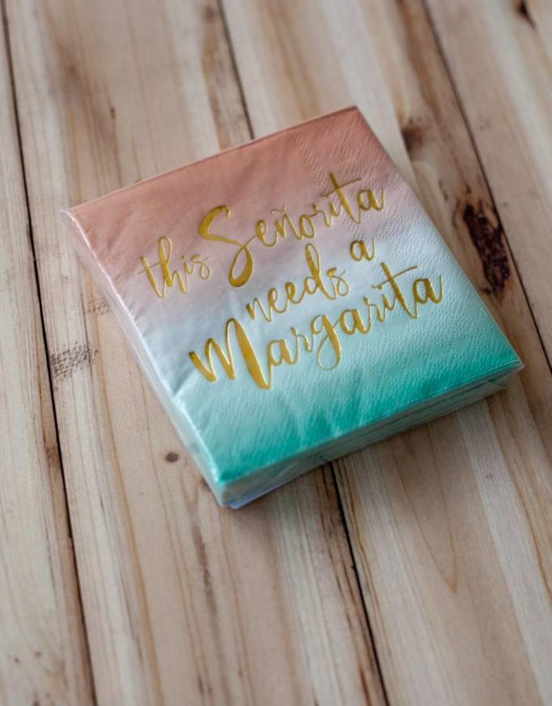 slant collection Señorita Margarita Beverage Napkins