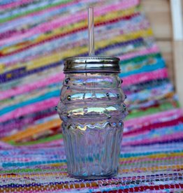 slant collection Rainbow Cupcake Mason Jar Sipper