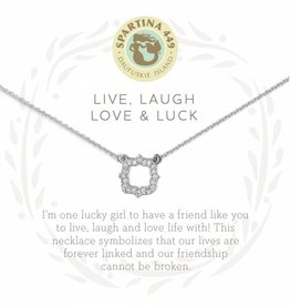 Spartina 449 Sea La Vie Necklace- Live, Laugh.. SIL