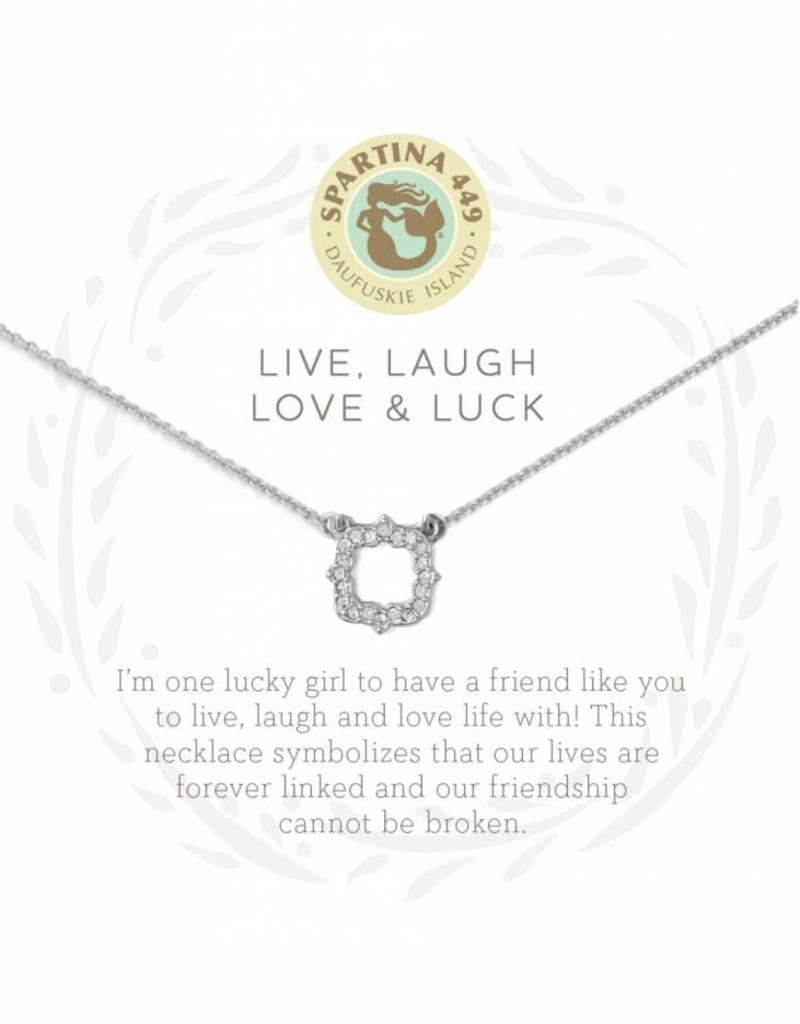 Spartina 449 Sea La Vie Necklace- Live, Laugh.. SIL