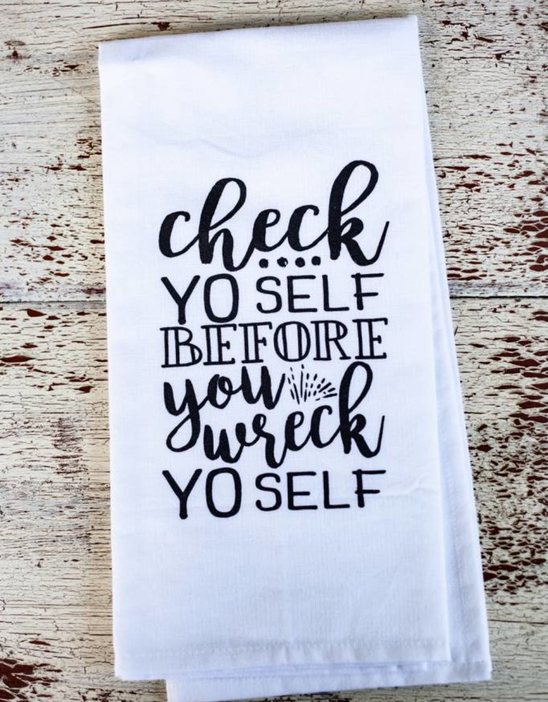 Liberty And Lilac Paper Co Check Yo Self Towel