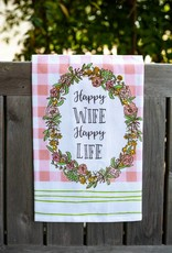 love&fig Happy Wife Happy Life Tea Towel