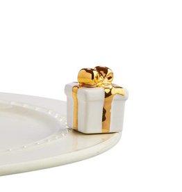 nora fleming A185 White Gift Mini