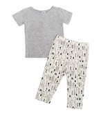 Two-Piece Bamboo Short sleeve Pajama Set
