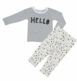 Two- Piece Bamboo Long Sleeve Pajama set