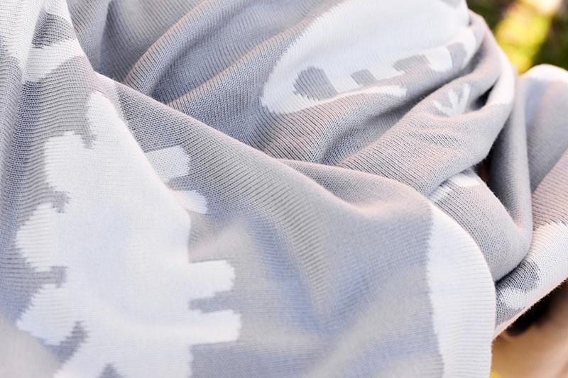 Knit Bamboo Animal Blanket
