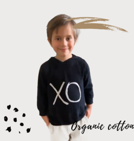 Certified Organic Cotton Knit XO Hoodie Sweater