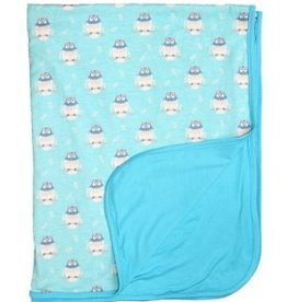 Digital Print Blanket  Blue Sky Owls