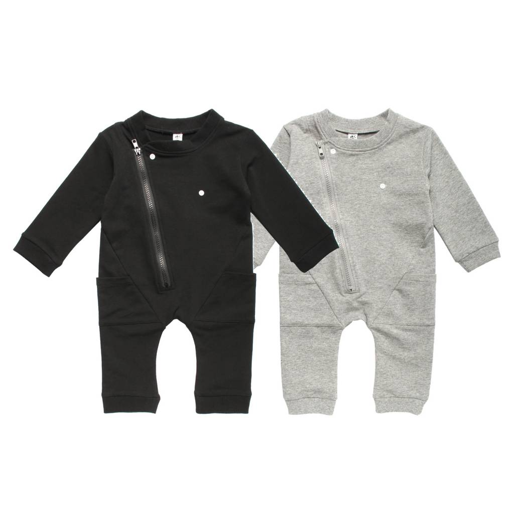 Organic Cotton Long Sleeve Biker Romper