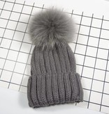 KNIT POMPOM MOMMY AND ME BEANIE