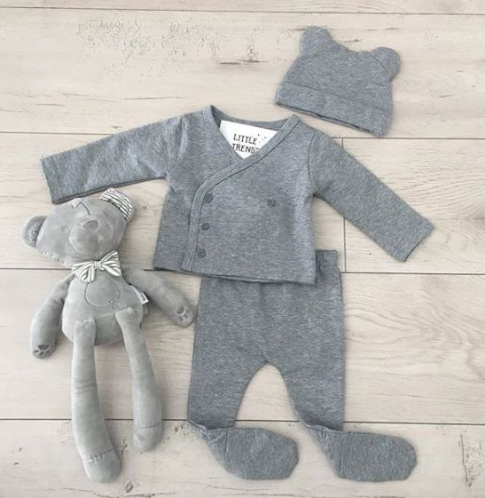 Organic Cotton French Terry 3 Piece New Born Gift Set Earth Baby