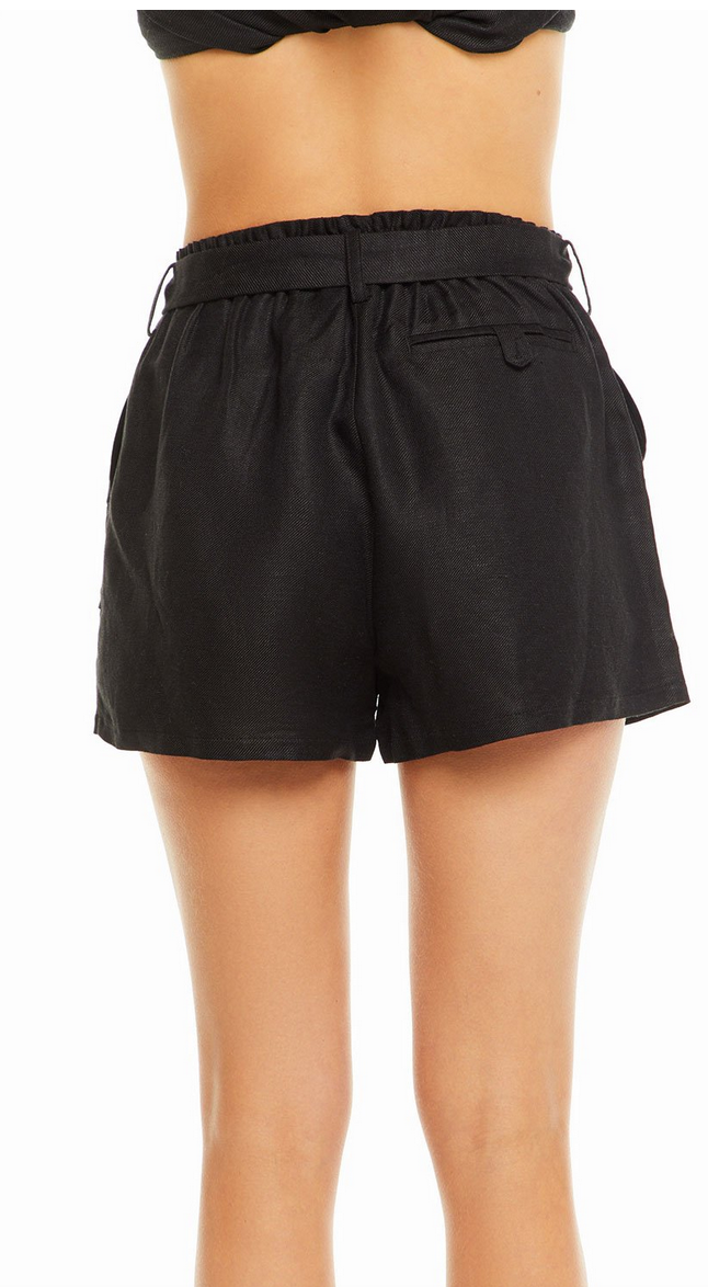 chaser Beachy Linen Tie Shorts