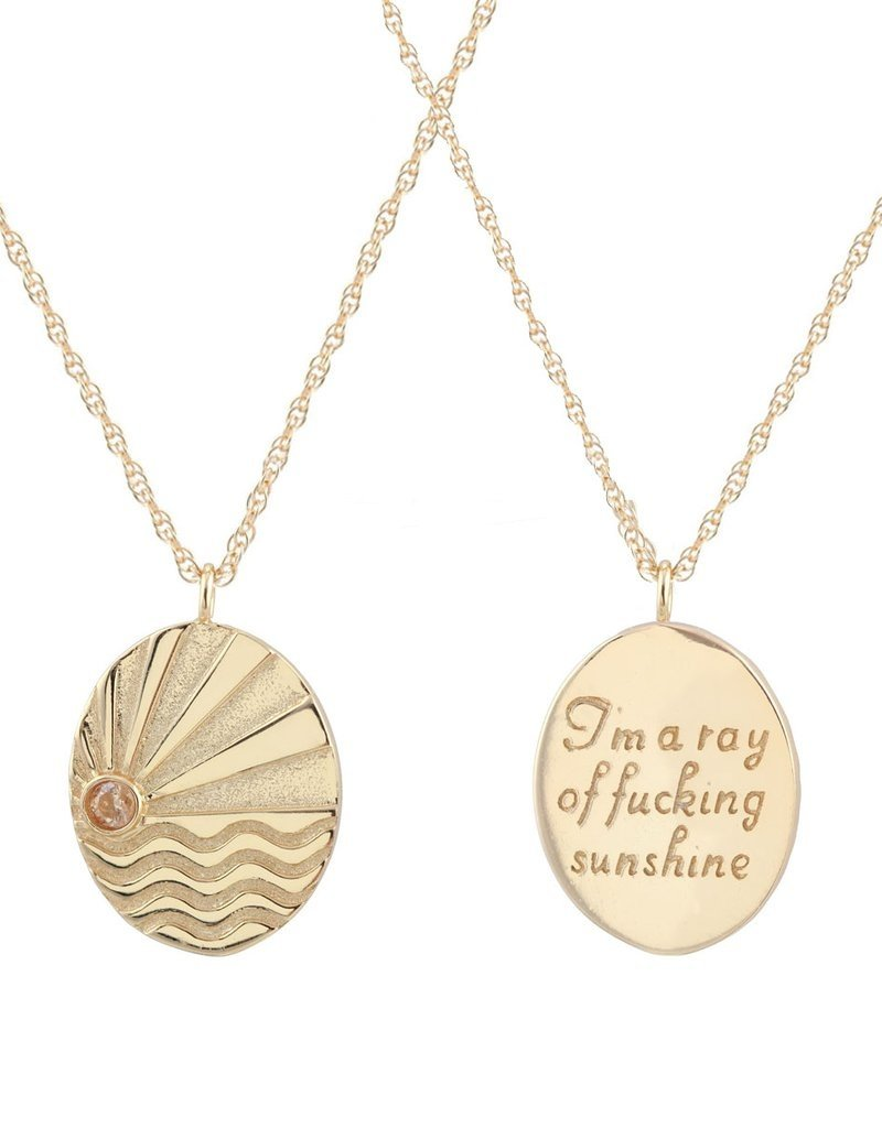 Kris Nations Ray Of Sunshine Charm Necklace