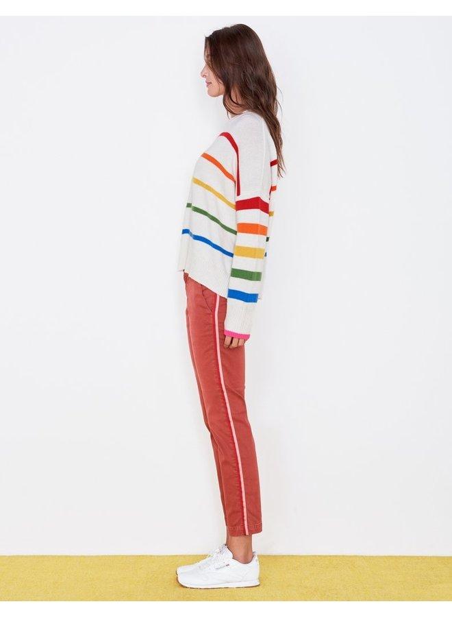 Rainbow Stripe Oversized Sweater
