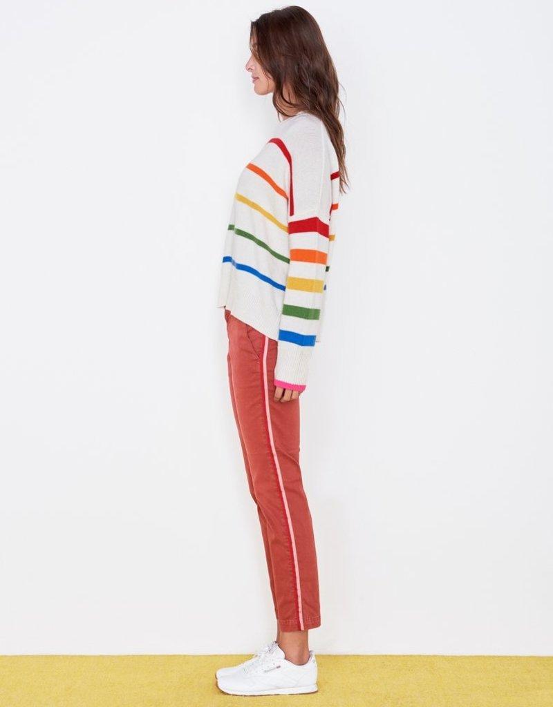 Sundry Rainbow Stripe Oversized Sweater