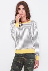 Sundry Colorblock Cuff Top