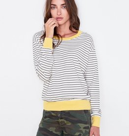 Sundry Colorblock Cuff Top