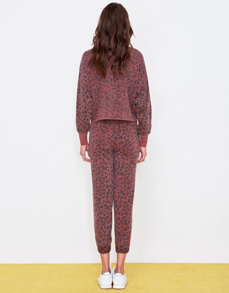 Sundry Leopard Drapey Sweatshirt