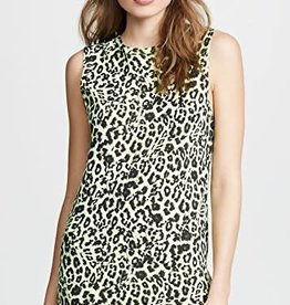 LNA Clothing Leopard Muscle Tank Dress