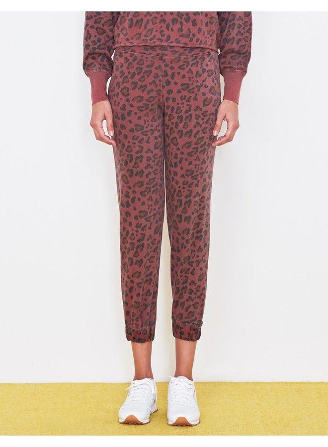 Leopard Cuff Sweatpant