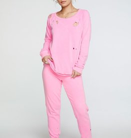 Cotton Fleece Relaxed Lounge Pant