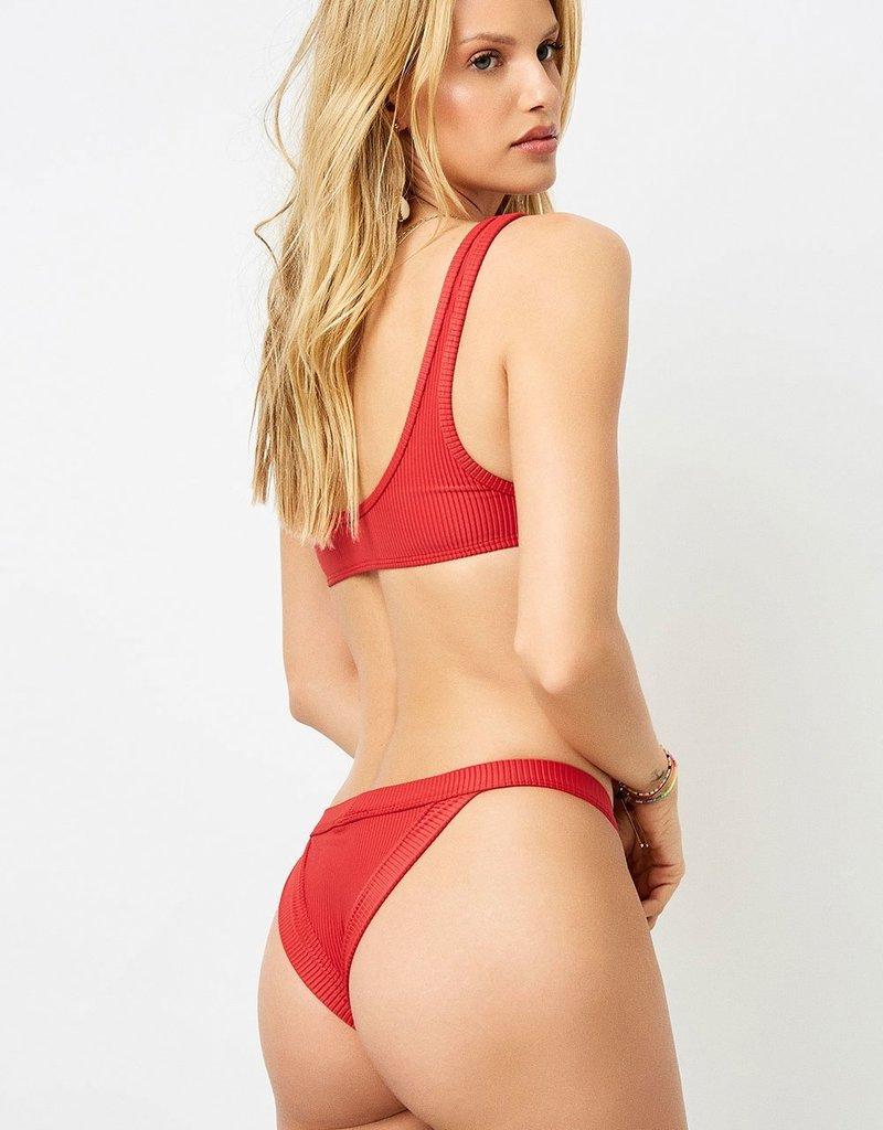 Frankies Bikinis Cole Ribbed Bottom