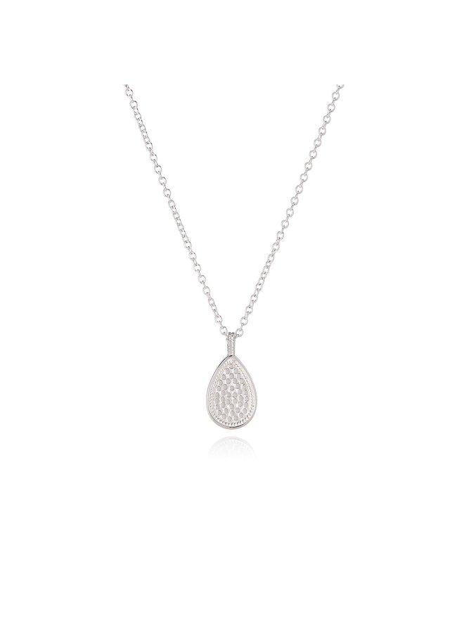 Beaded Single Drop Pendant Necklace