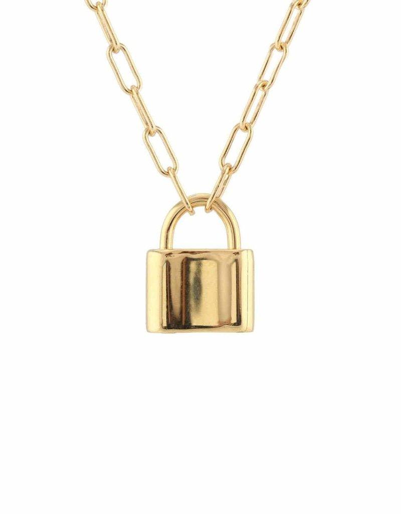 Kris Nations Large Padlock Charm Necklace