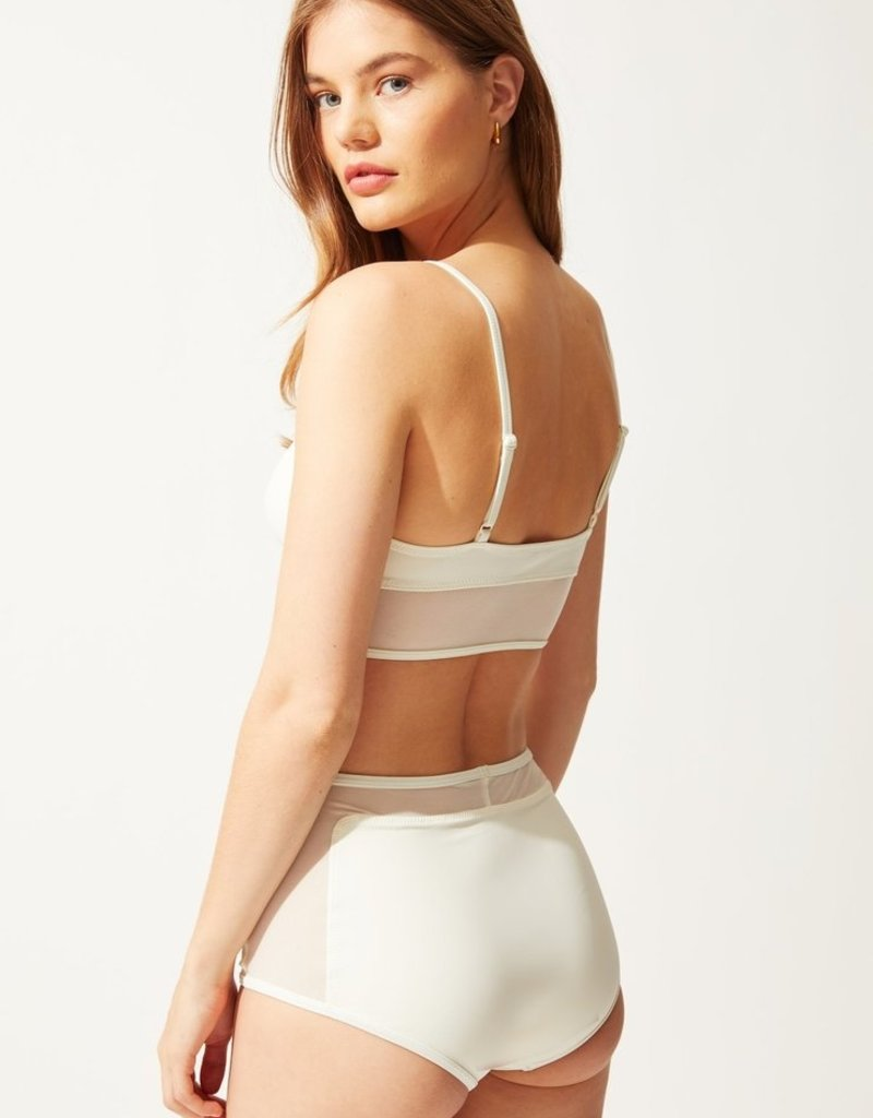 Solid and Striped The Brigitte with Mesh Top