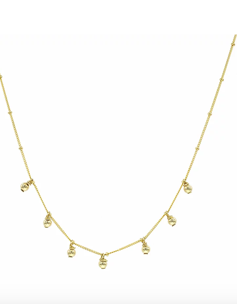 Gold Ball Shaker Necklace