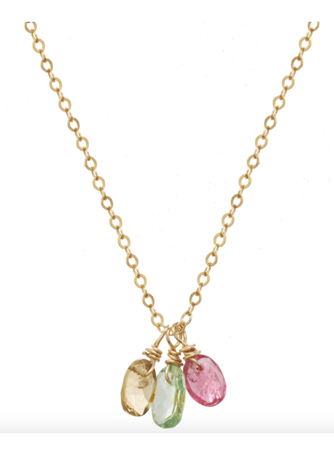 Baya Rainbow Necklace Gold