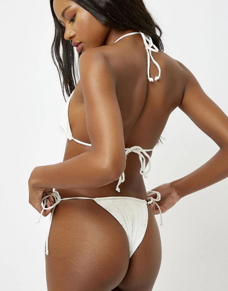 Frankies Bikinis Tess Bottom White