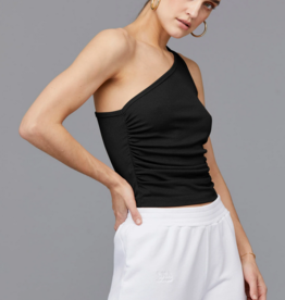 LNA Clothing Ariel Rib One Shoulder Tank