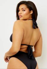 Frankies Bikinis Veronica Eco Top Black