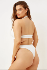 Frankies Bikinis Claire Bottom White