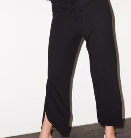 LNA Clothing Bianca Rib Pant Black