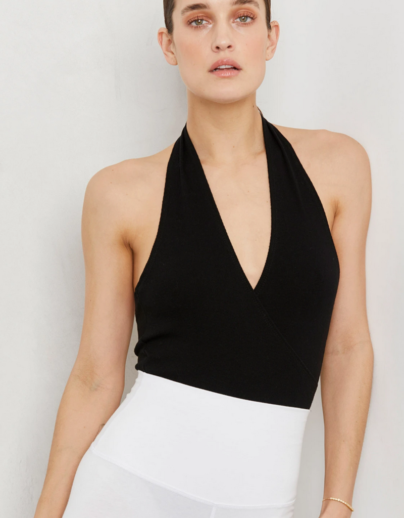 LNA Clothing Gia Halter Bodysuit Black