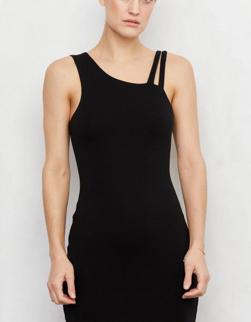 LNA Clothing Ziniti Ribbed Dress Black