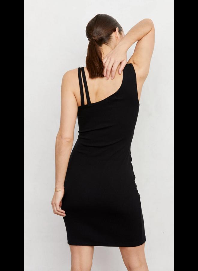 Ziniti Ribbed Dress Black
