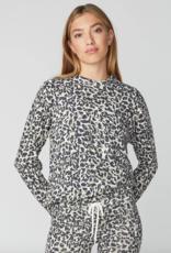 Monrow Animal Print Vintage Boyfriend Sweatshirt