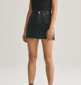 Agolde Quinn High Rise Mini Skirt Pose