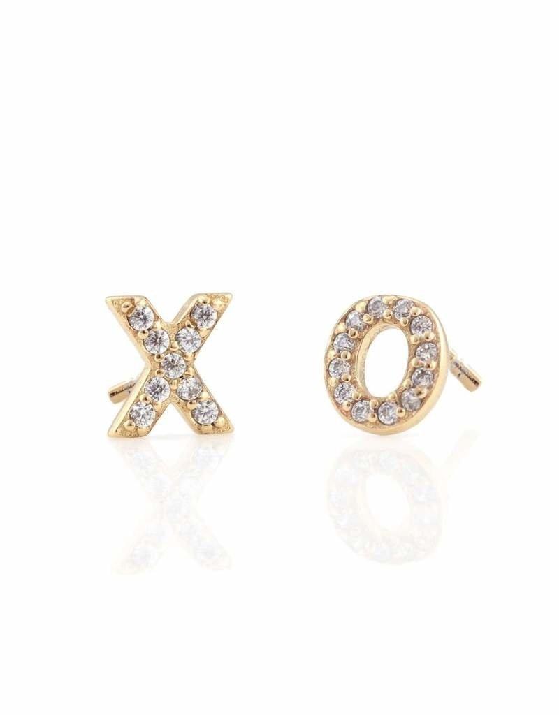 Kris Nations XO Pave Stud Earrings