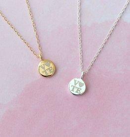 Kris Nations Petite Vote Disc Necklace