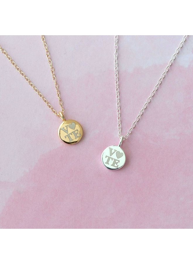 Petite Vote Disc Necklace
