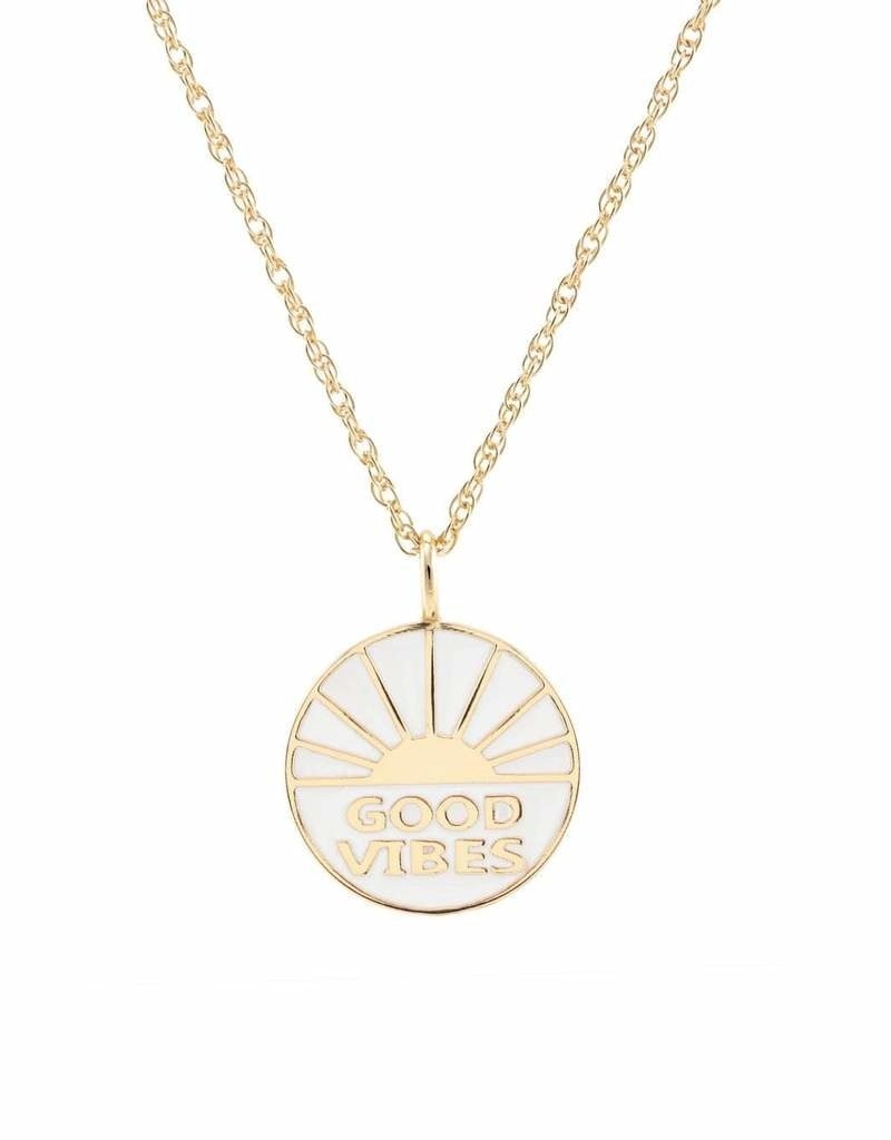 Kris Nations Good Vibes Enamel Charm Necklace
