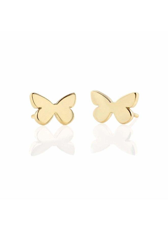 Butterfly Stud Earrings Gold