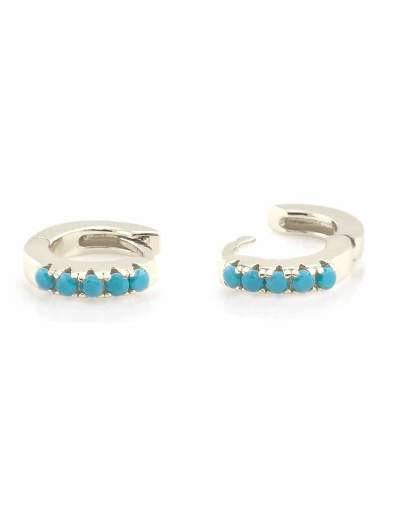 Kris Nations Turquoise Huggie Hoop Earring