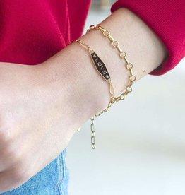Kris Nations Love Enamel Bracelet Gold